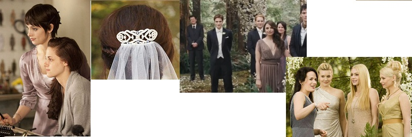 Bella Alice get ready Bella 39s wedding hair piece Edward awaits his Bride